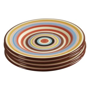TMS-M6801-EC-Sedona Set of Four 11.5 Inch Ceramic Dinner Plates by Tabletops Lifestyles