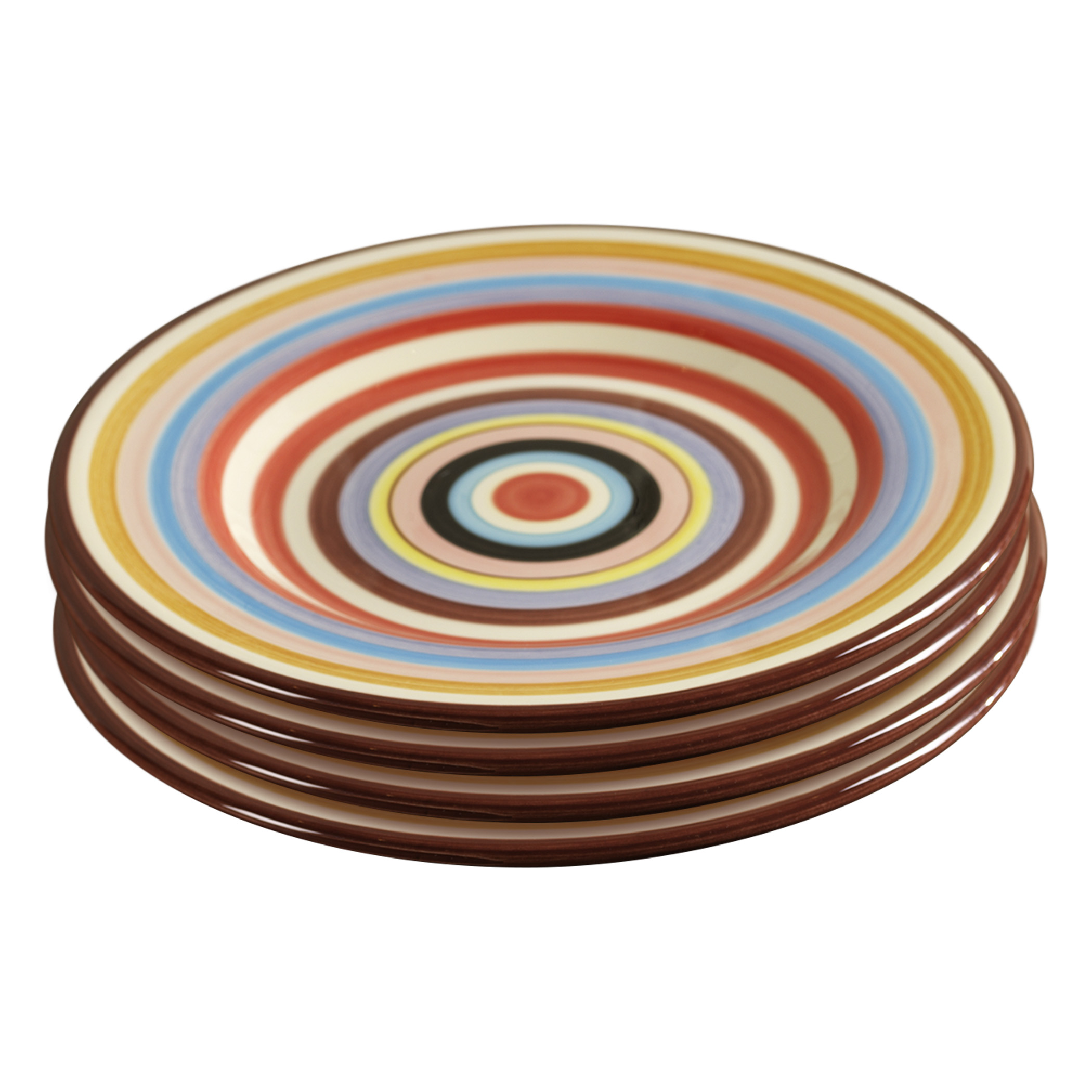 TMS-M6801-EC-Sedona Set of Four 11.5 Inch Ceramic Dinner Plates by  sc 1 st  Tabletops Unlimited : plates ceramic - pezcame.com
