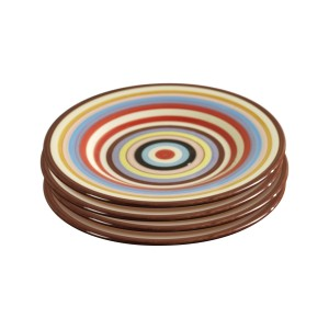 TMS-M6802-EC-Sedona Set of Four 8.75 Inch Ceramic Salad Plates by Tabletops Lifestyles