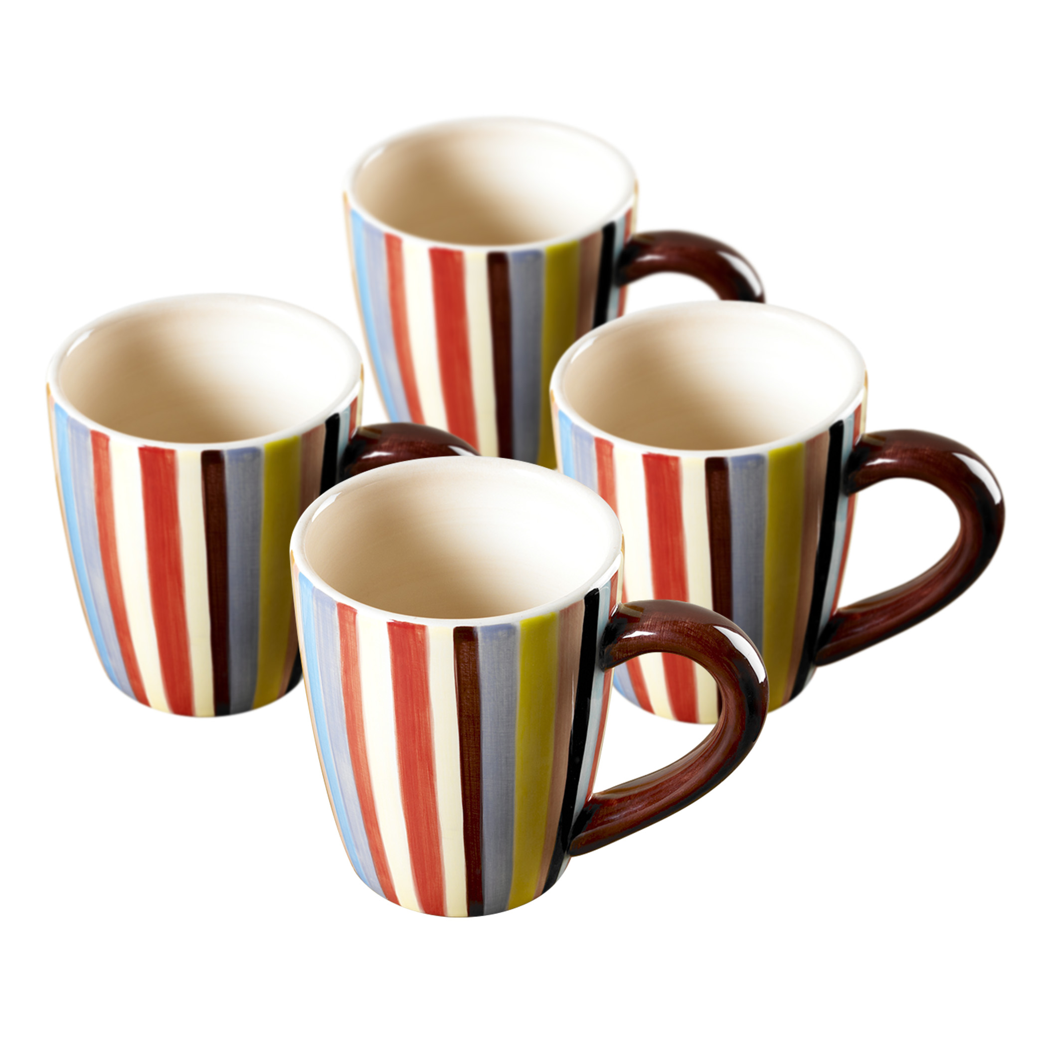 Sedona Set Of Four 16 Oz Ceramic Mugs By Tabletops Lifestyles