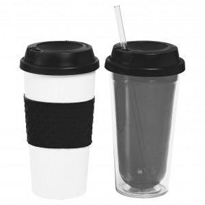 TTU-T6253-EC-16 ounce Fire and Ice mug & Travel Tumbler set by rove