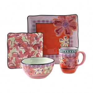 KD-T6416-EC-4 Piece Square Placesetting by Kathy Davis