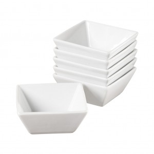 TTU-Q1215-EC-Set of Six 4 Inch Porcelain Fruit Bowls by Denmark Tools For Cooks