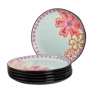 KD-T6401-EC-Set of Six 11 inch Dinner Plates by Kathy Davis