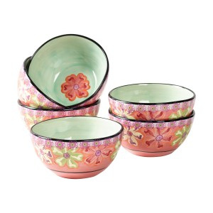 KD-T6403-EC-Set of Six Cereal Bowls by Kathy Davis