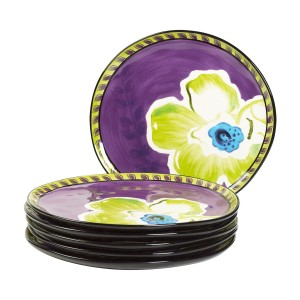 KD-T6501-EC-Set of Six 11 inch Dinner Plates by Kathy Davis