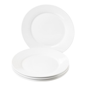TTU-Q1201-EC-Set of Four 11 inch Porcelain Dinner Plates by Denmark Tools for Cooks