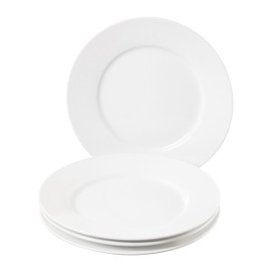 TTU-Q1202-EC-Set of Four 9 inch Porcelain Salad Plates by Denmark Tools for Cooks