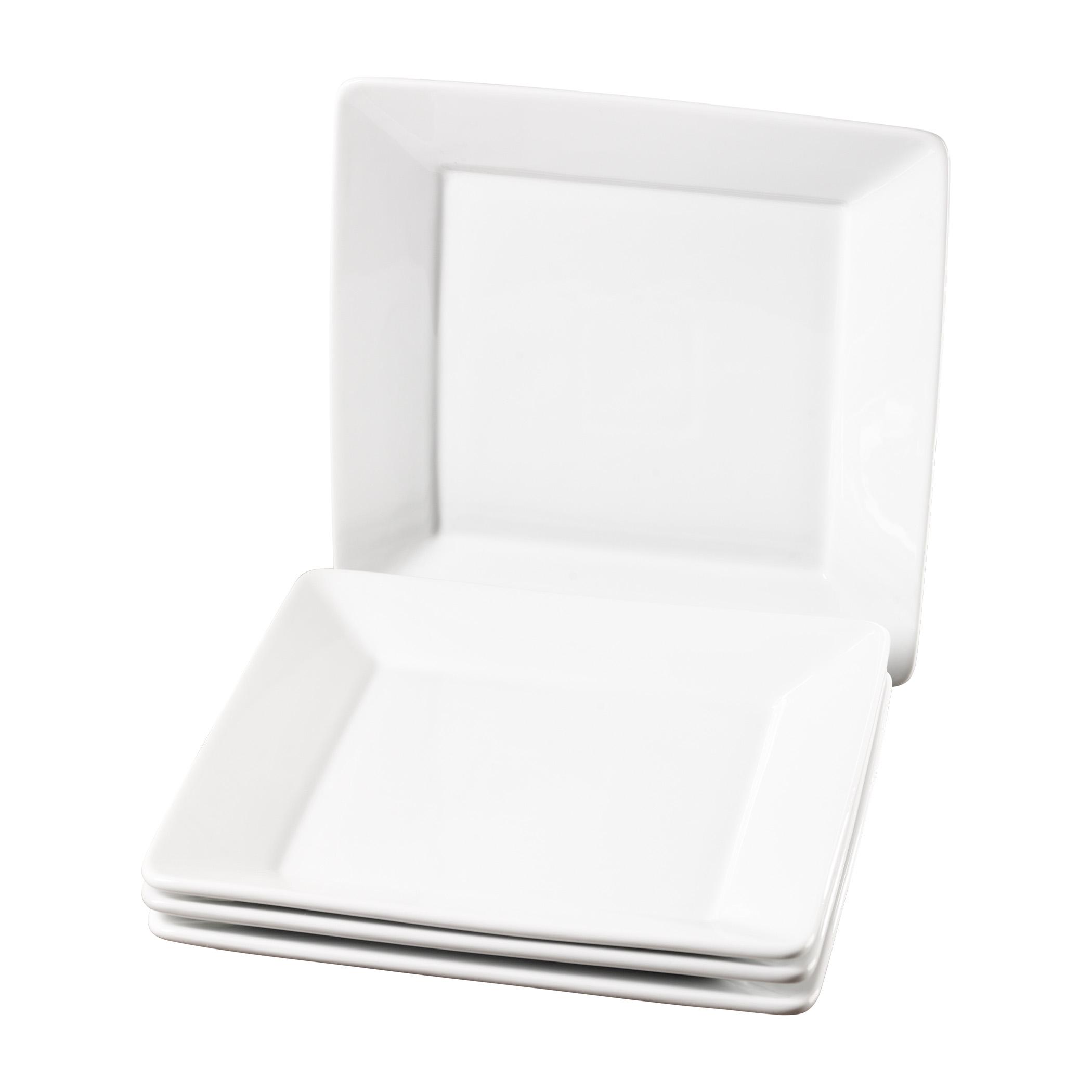 TTU-Q1211-EC-Set of Four 10.5 Inch Porcelain Dinner Plates by Denmark  sc 1 st  Tabletops Unlimited & Set of Four 10.5 Inch Square Porcelain Dinner Plates by Denmark ...