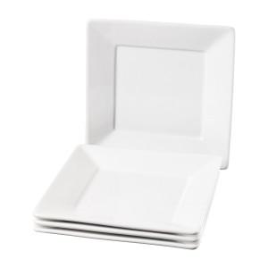 TTU-Q1212-EC-Set of Four 8.5 Inch Porcelain Salad Plate by Denmark Tools for Cooks