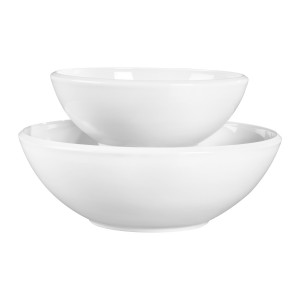 TTU-Q1227-EC-Set of Two Porcelain Serving Bowls by Denmark Tools For Cooks