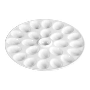 TTU-Q1234-EC-13.25 Inch Porcelain Deviled Egg Platter by Denmark Tools For Cooks