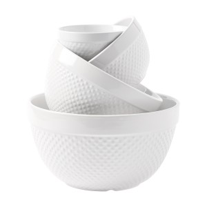 TTU-E1650-EC-TG 4PC HOBNAIL MIXING BOWL SET