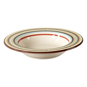 TMS-M6835-EC-Striped Pasta Bowl by Tabletops Lifestyles