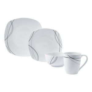 TTU-T4140-EC-16 Piece Porcelain Dinnerware Set by Tabletops Gallery