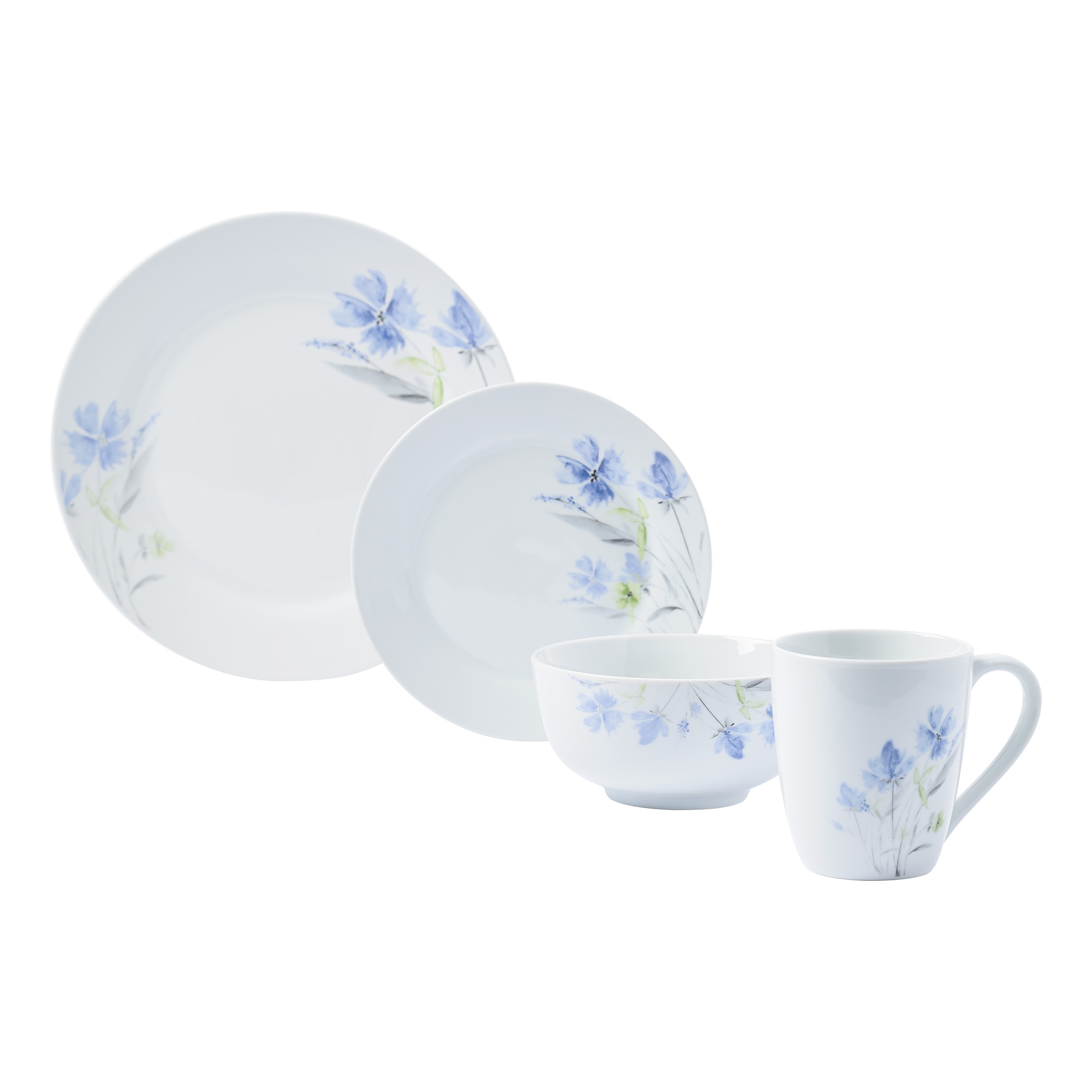 TTU-83700-EC-16 Piece Porcelain Dinnerware Set by Tabletops Gallery ...  sc 1 st  Tabletops Unlimited : tabletops dinnerware sets - pezcame.com