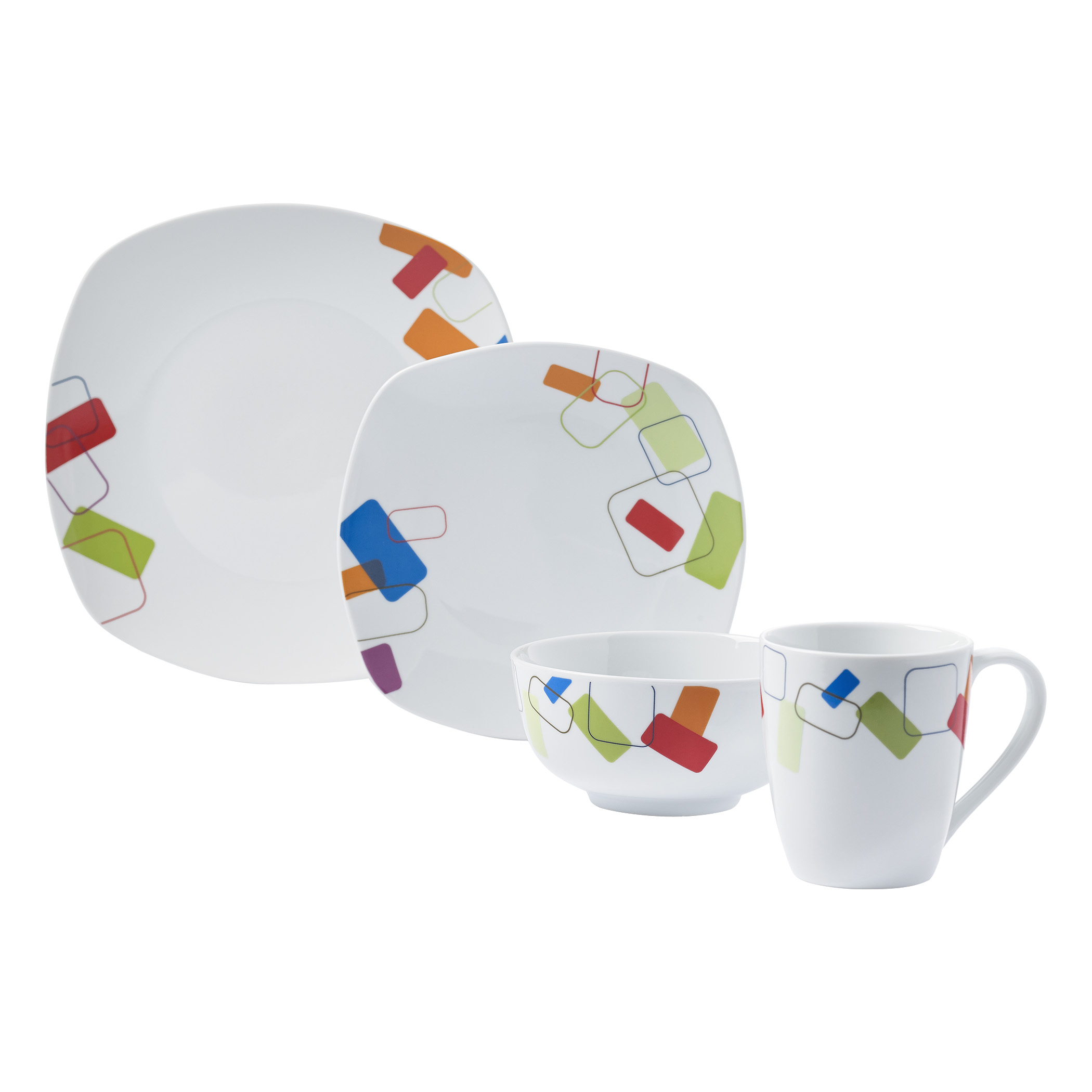 TTU-T4250-EC-16 Piece Porcelain Dinnerware Set by Tabletops Gallery ...  sc 1 st  Tabletops Unlimited : dinnerware 16 piece - pezcame.com