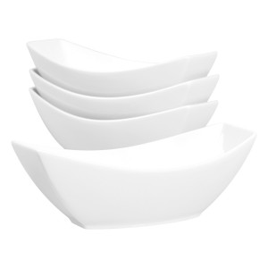 TTU-T1315-EC-Oven to Table Set of Four Vitrified Porcelain Serving Bowls by Denmark Tools For Cooks