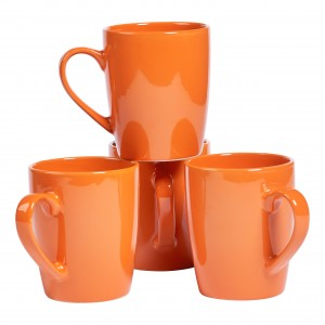 TTU-T6924-EC-Set of Four 14 Ounce High-fired Stoneware Mugs by Basic Essentials