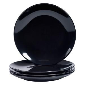 TTU-T6961-EC-Set of Four 10.75 inch High-fired Stoneware Dinner Plates by Basic Essentials