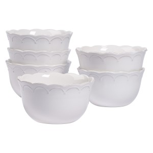 TTU-U1903-EC-Set of Six 6 Inch Stoneware Cereal Bowls by Tabletops Gallery