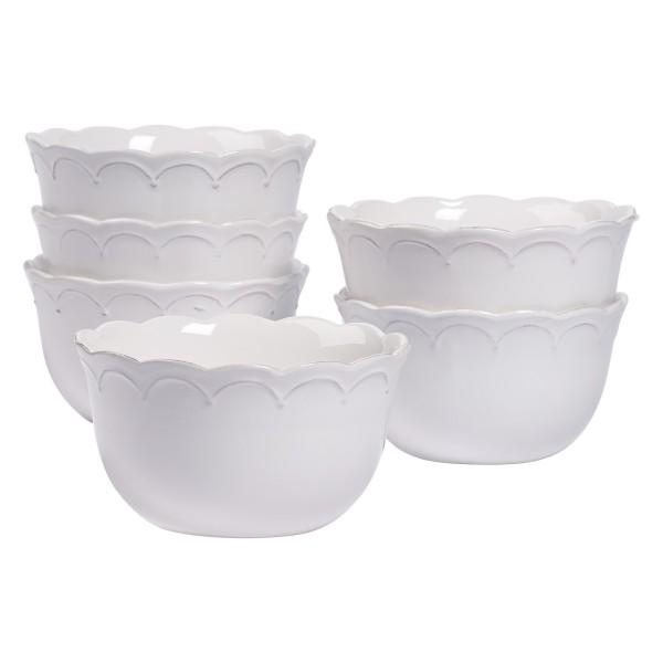 TTU-U1903-EC-Set of Six 6 Inch Stoneware Cereal Bowls by Tabletops Gallery
