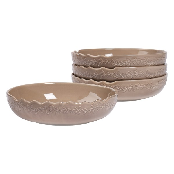 TTU-U1938-EC-Set of Four 8.25 Inch Stoneware Soup Bowls by Tabletops Gallery