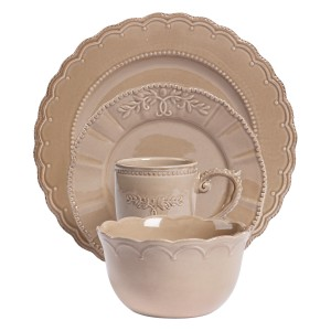TTU-U1928-EC-4 Piece Stoneware Dinnerware Service for One by Tabletops Gallery