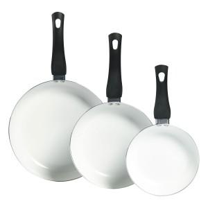 TTU-T1431-EC-Set of 3 Ceramic Non-Stick Aluminum Fry Pans by Basic Essentials