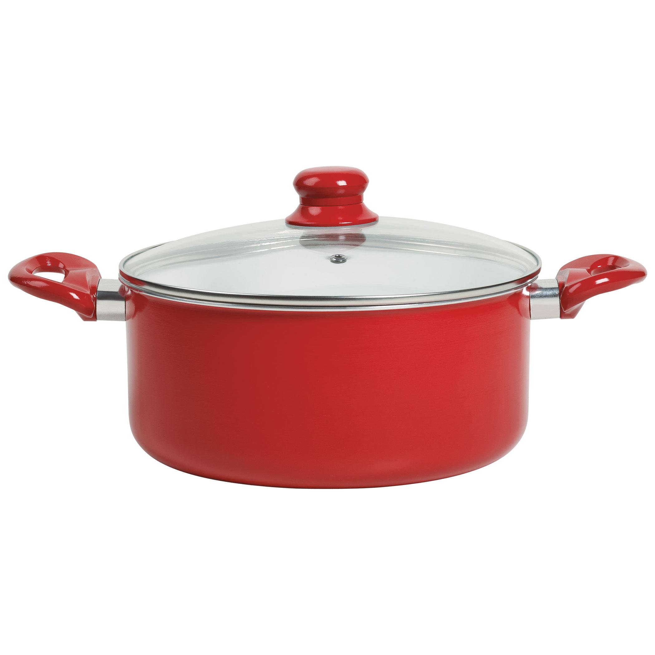 17 Piece Ceramic Non Stick Aluminum Cookware Set By Basic