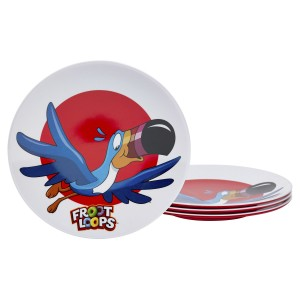 KLG-U2182-EC-Set-of-Four-Toucan-Sam®-8.625-inch-Melamine-Salad-Plates-by-Kellogg¹s