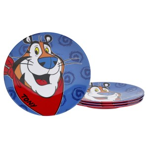 KLG-U2152-EC-Set-of-Four-Tony-the-Tiger-8.625-inch-Melamine-Salad-Plates-by-Kellogg¹s