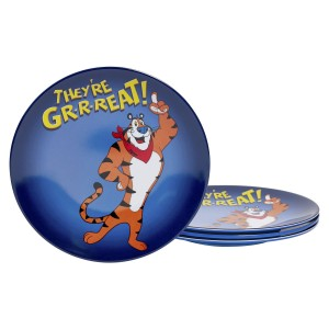 KLG-U2132-EC-Set-of-Four-Tony-the-Tiger-8.625-inch-Melamine-Salad-Plates-by-Kellogg¹s