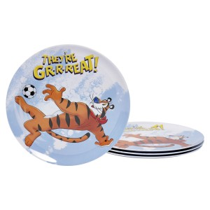 KLG-U2112-EC-Set-of-Four-Tony-the-Tiger-8-inch-Melamine-Salad-Plates-by-Kellogg¹s