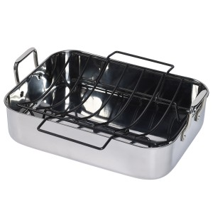 16 x 12 x 3.75 inch Stainless Steel Roaster with Non-Stick U-Rack by Philippe Richard®  sc 1 st  Tabletops Unlimited & Philippe Richard | Dinnerware Cookware \u0026 Kitchen Gadgets