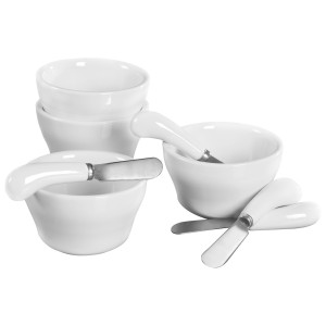 TTU-Q1222-EC-8 pc porcelain dip set by Denmark®