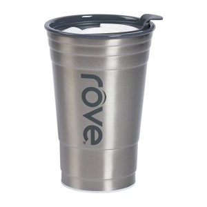 TTU-U4252-EC 20 Ounce Stainless SteelPolypropylene Double Wall Hot & Cold Drink Party Cup by rove