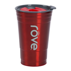 TTU-U4254-EC 20 Ounce Stainless SteelPolypropylene Double Wall Hot & Cold Drink Party Cup by rove