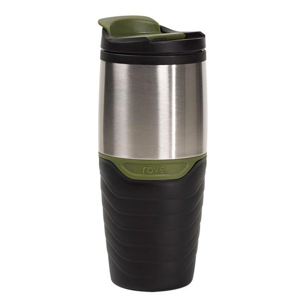 TTU-T6267-EC 16 Ounce Double Wall Stainless SteelPolypropylene Travel Mug by rove