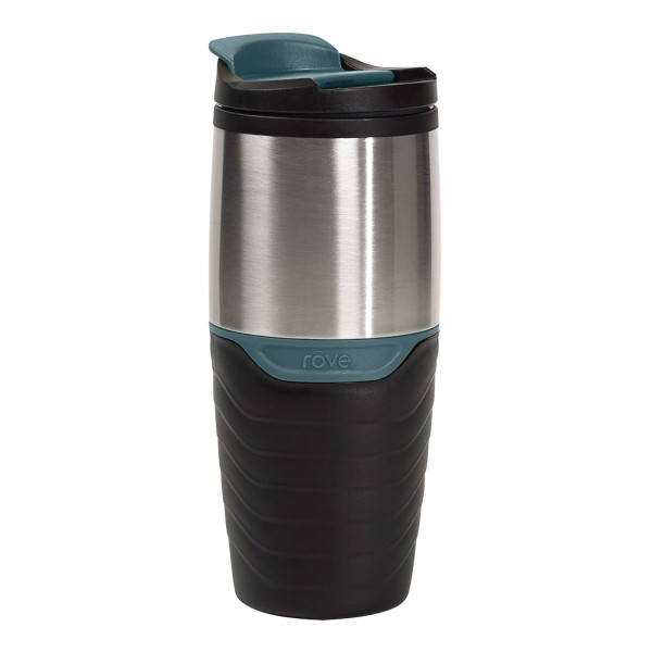 TTU-T6268-EC 16 Ounce Double Wall Stainless SteelPolypropylene Travel Mug by rove