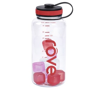 TTU-U4880-EC 38 ounce Tritan™ Hydration Bottle with 10 Ice Cubes by rove®