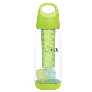 TTU-U1031-EC 34 Ounce Tritan™ Iced Flavor Infuser Hydration Bottle with 10 Reusable Ice Cubes by rove®