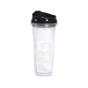 TTU-U4913-EC 20 Ounce Double Wall Cold Drink Hydration Tumbler with Ice Cubes by rove®