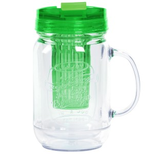 TTU-U4290-EC 18 Ounce Double Wall Flavor InfuserHot & Cold Hydration Mug by rove®
