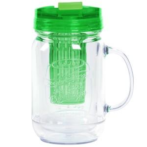 TTU-U4290-EC 18 Ounce Double Wall Flavor InfuserHot & Cold Hydration Mug by rove®