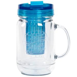 TTU-U4291-EC 18 Ounce Double Wall Flavor InfuserHot & Cold Hydration Mug by rove®