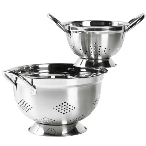 TTU-Q4764-EC Set of 2 Stainless Steel Colanders by Basic Essentials®