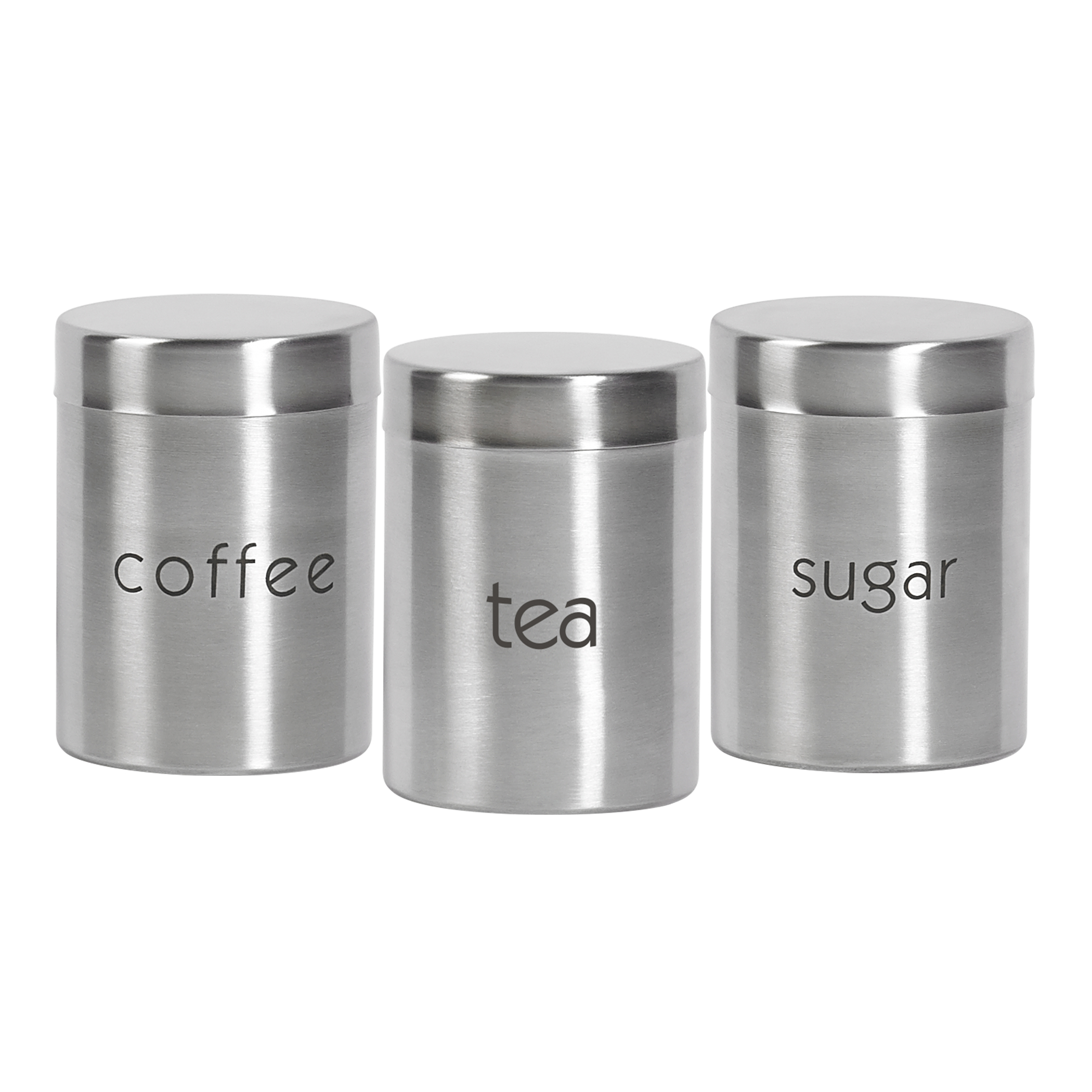 Set Of Three 29 Ounce Stainless Steel Canisters By Basic