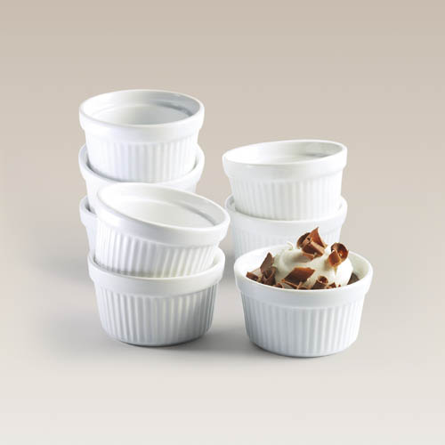 Set of Eight 3.5 Inch Porcelain Ramekins by Everything Kitchen