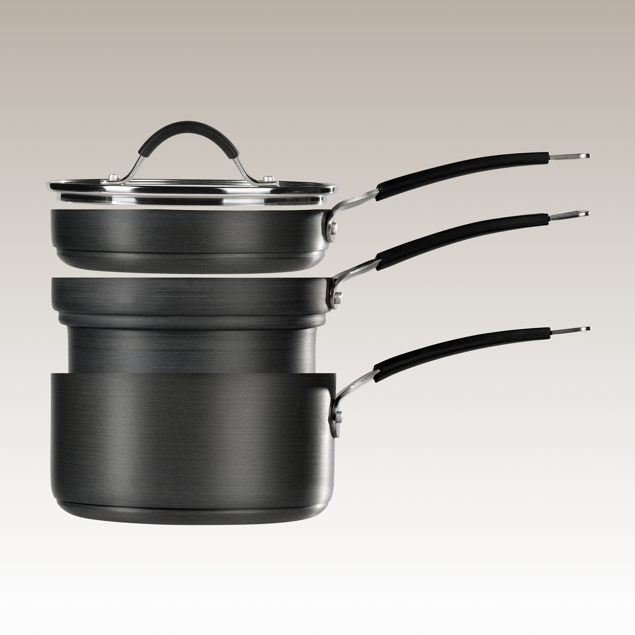 Piece Space Efficient Non-Stick Hard Anodized Multi-function Cooking System by Stax Living.